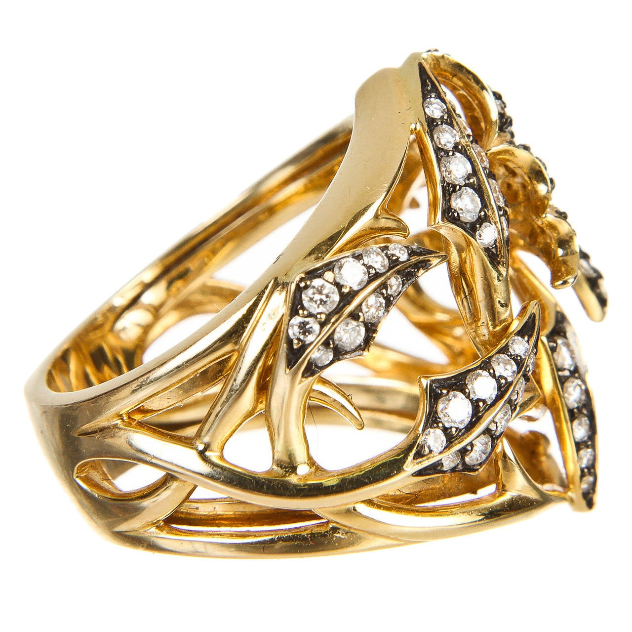 Stephen Webster Diamond Gold Fly by Night Ring at 1stdibs