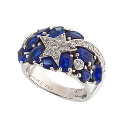 Chanel Sapphire Diamond White Gold Comete Ring