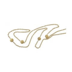 Youmna 18 Karat Yellow Gold Pastilles Long Necklace