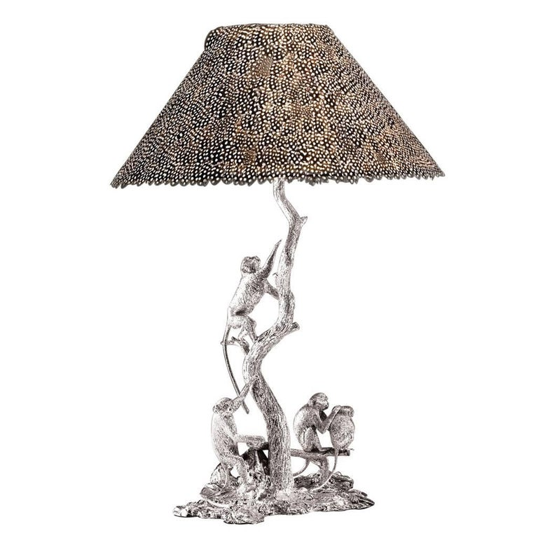 Sterling Silver Monkey Lamp, No. 1 For Sale