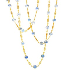 Ark Design, Moonstone and Yellow Gold Necklace