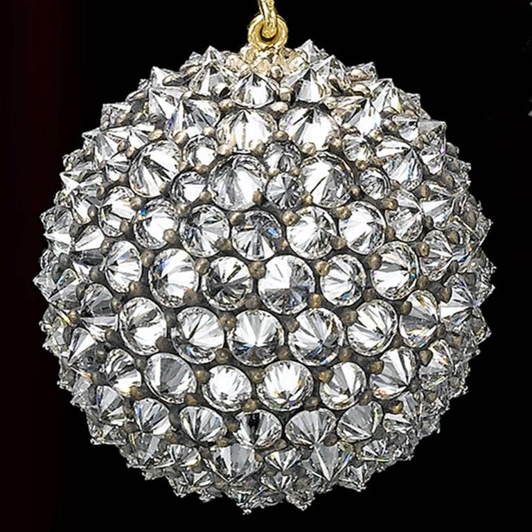 Ark Design, Drop Earrings, Diamonds, 18 Karat Gold, Silver
