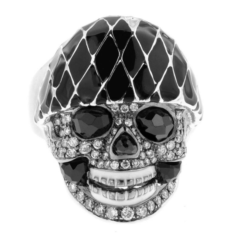 Harlequin Skull Ring, a Zorab Creation For Sale