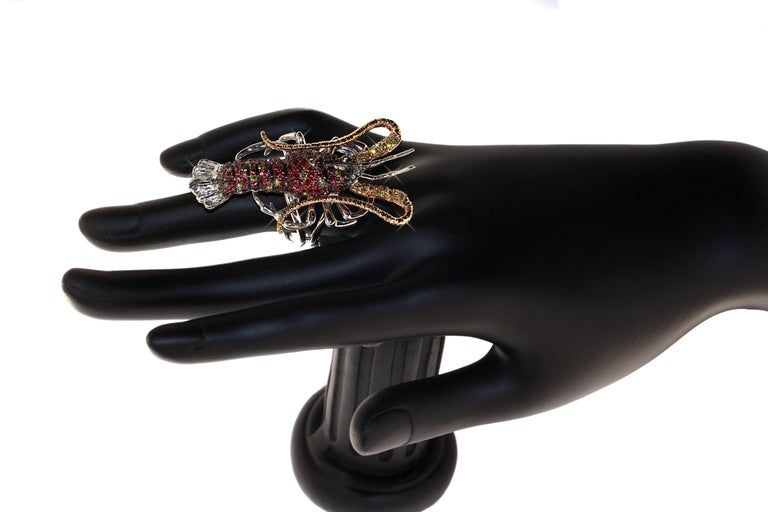 Artisan Luxe Lobster Ring, a Zorab Creation For Sale