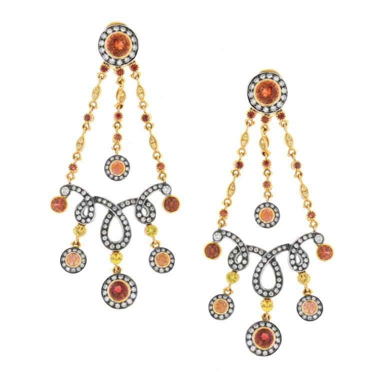 Flamenco Fan Earrings, a Zorab Creation