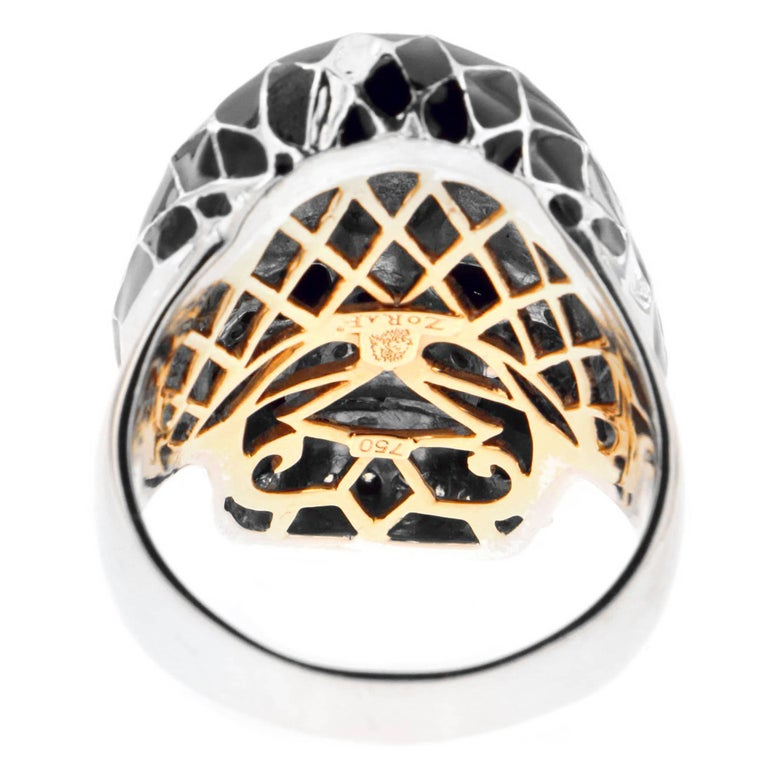 Harlequin Skull Ring, a Zorab Creation In New Condition For Sale In San Diego, CA