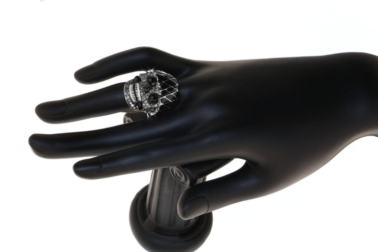Gothic Revival Harlequin Skull Ring, a Zorab Creation For Sale