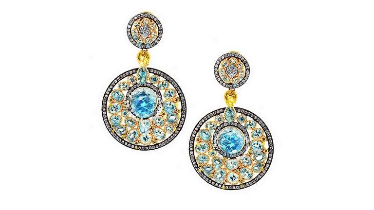 Women's Dream Catcher Earrings, a Zorab Creation For Sale