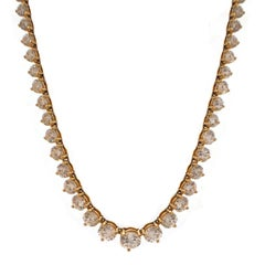 Diamond Gold Line Necklace