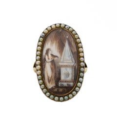 18th Century Rose Gold Mourning Ring