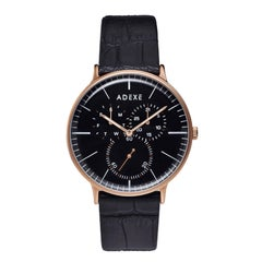 ADEXE Watch THEY Rose gold and Black Elegant Quartz Watch Gift for Him and Her