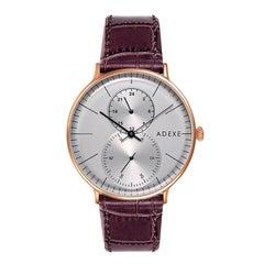 Foreseer Stainless Steel Grey and Dark Brown Handmade Wristwatch