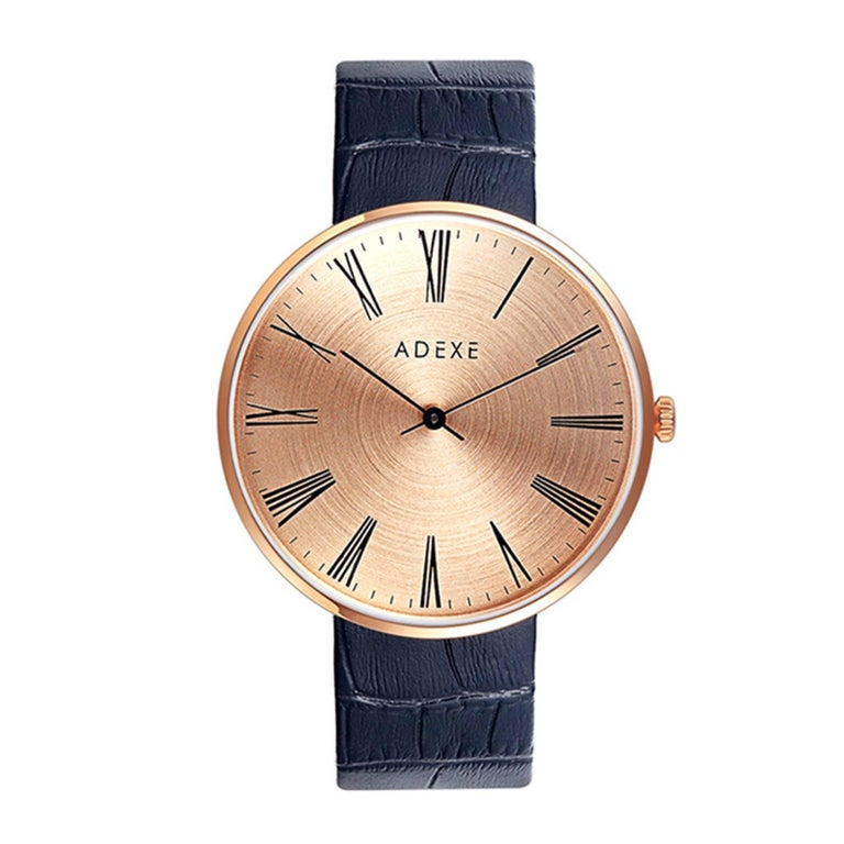 ADEXE Sistine Black and Rose Gold Timeless Designer Watch