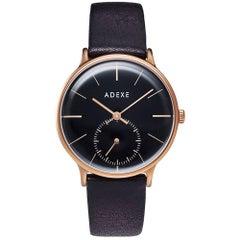Freerunner Rose Gold Black Dial Quartz Wristwatch
