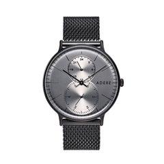 Foreseer Stainless Steel Gun Black Mesh Band wristwatch
