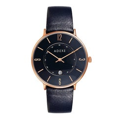 Mac Black Rose Gold Genuine Italian Leather Lifestyle Timeless Designer Watch