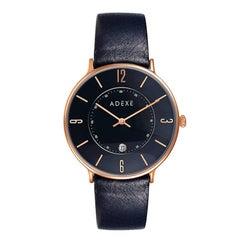 Mac Black Rose Gold Genuine Italian Leather Lifestyle Timeless Designer Watch