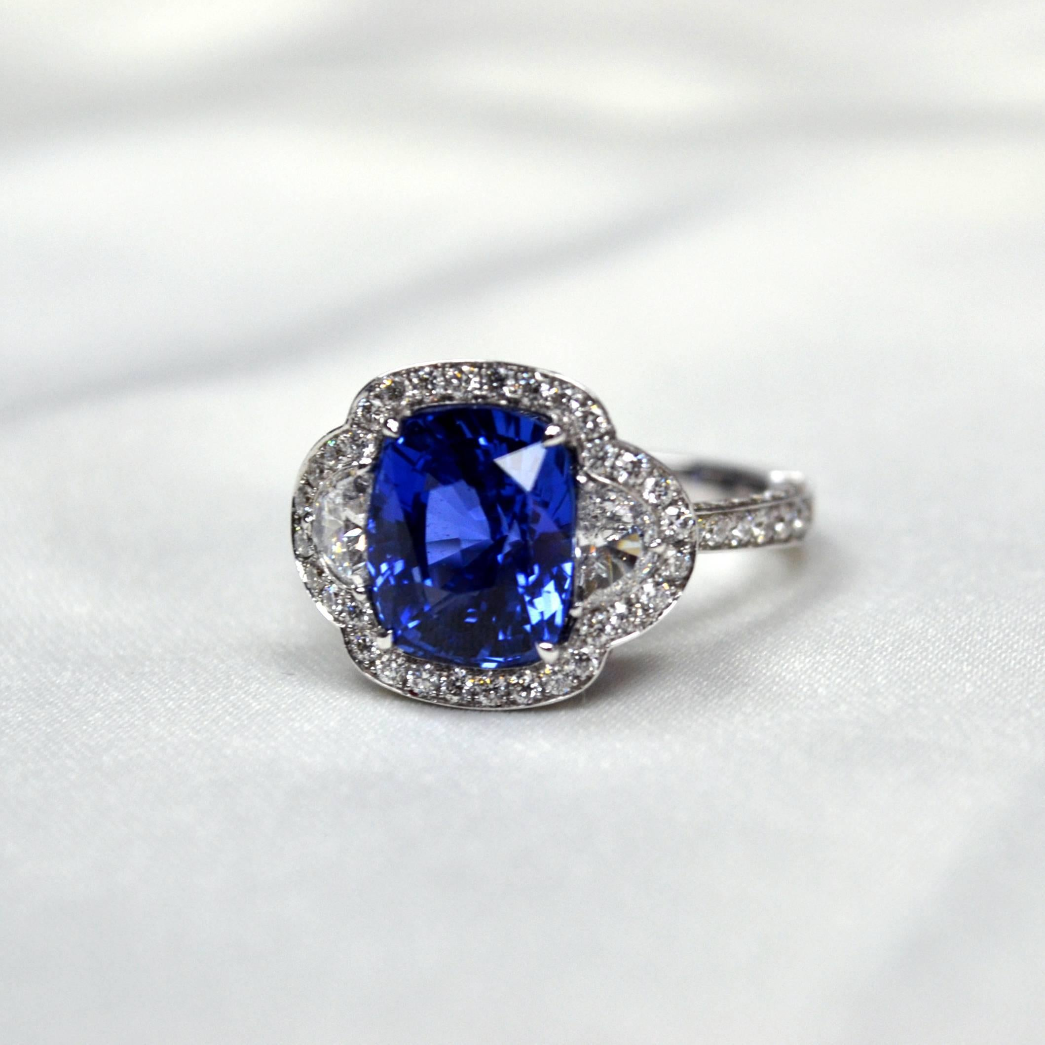 gold jewelers ring product arnold halo blue sapphire rings colored engagement
