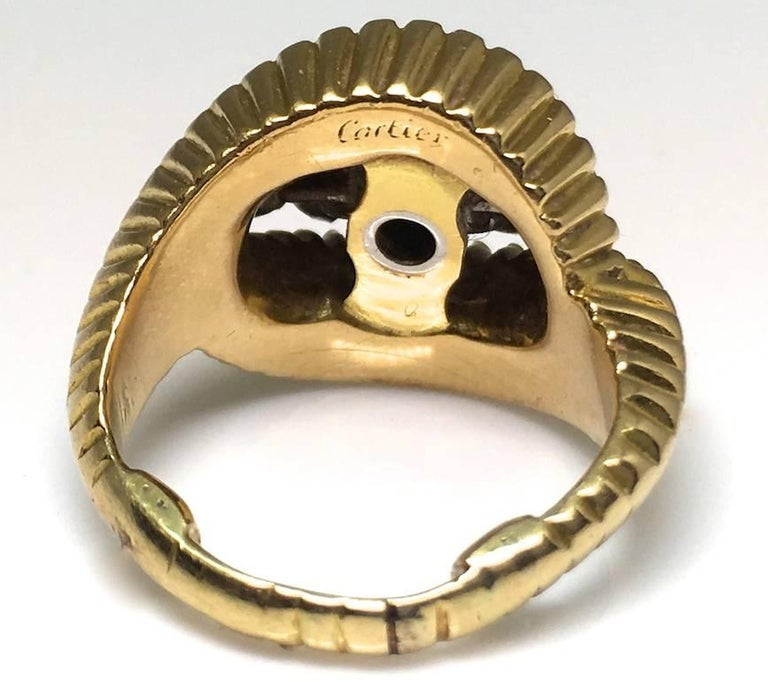Modern Cartier 1960s Gold and Diamond Ring