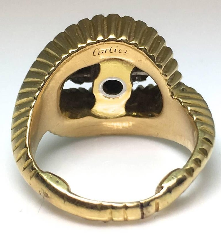 Cartier 1960s Gold and Diamond Ring In New Condition In London, GB