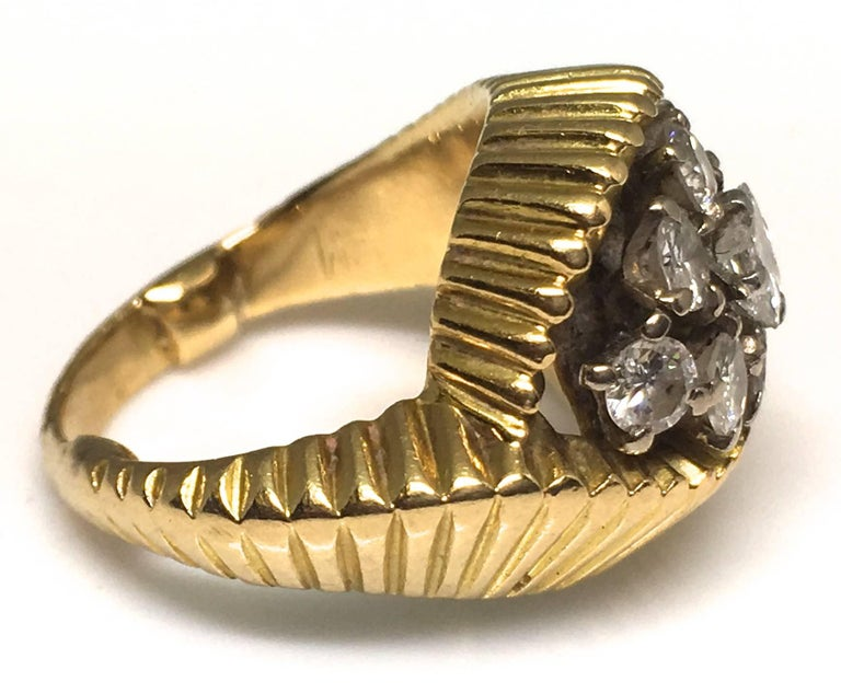 Women's Cartier 1960s Gold and Diamond Ring