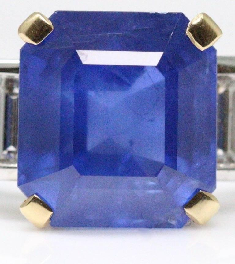 Bulgari 6.54 Carat Natural Sapphire Diamond Ring In New Condition For Sale In London, GB