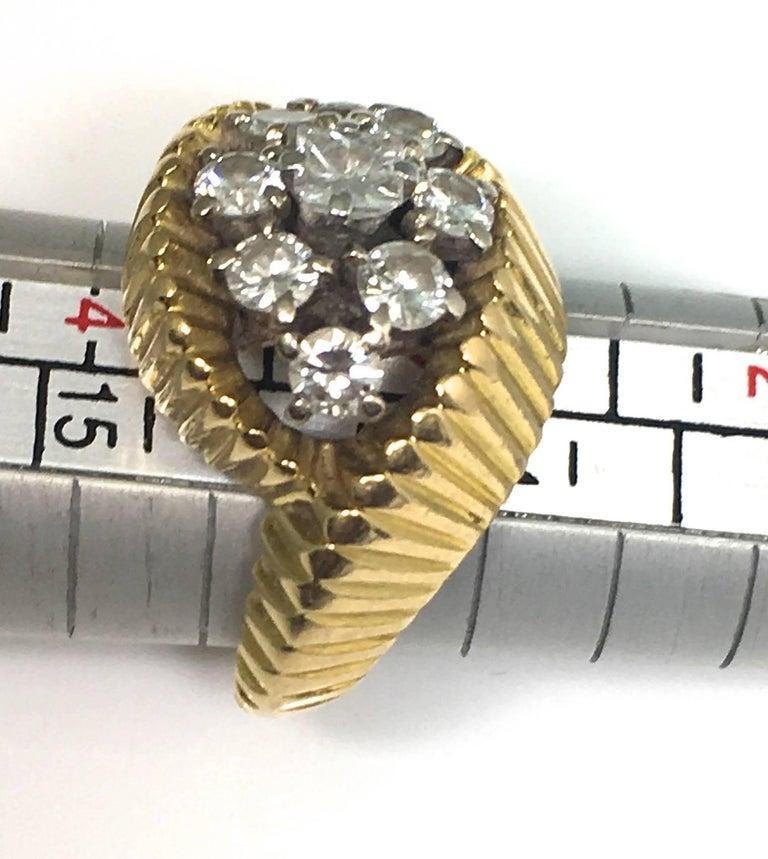 Cartier 1960s Gold and Diamond Ring 2