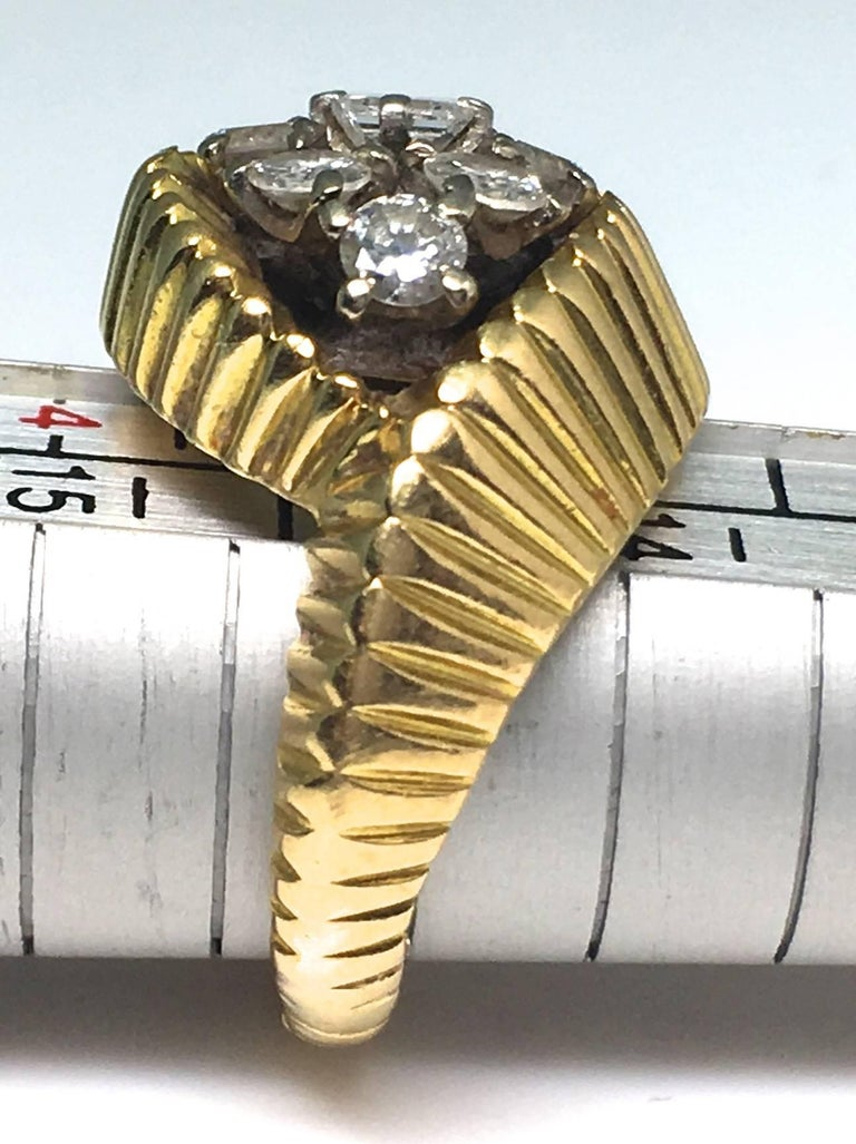 Cartier 1960s Gold and Diamond Ring 1
