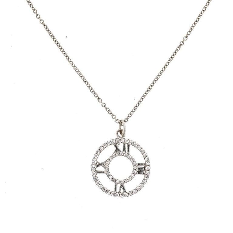 Tiffany And Co 18 Karat Gold Atlas Diamond Roman Numeral
