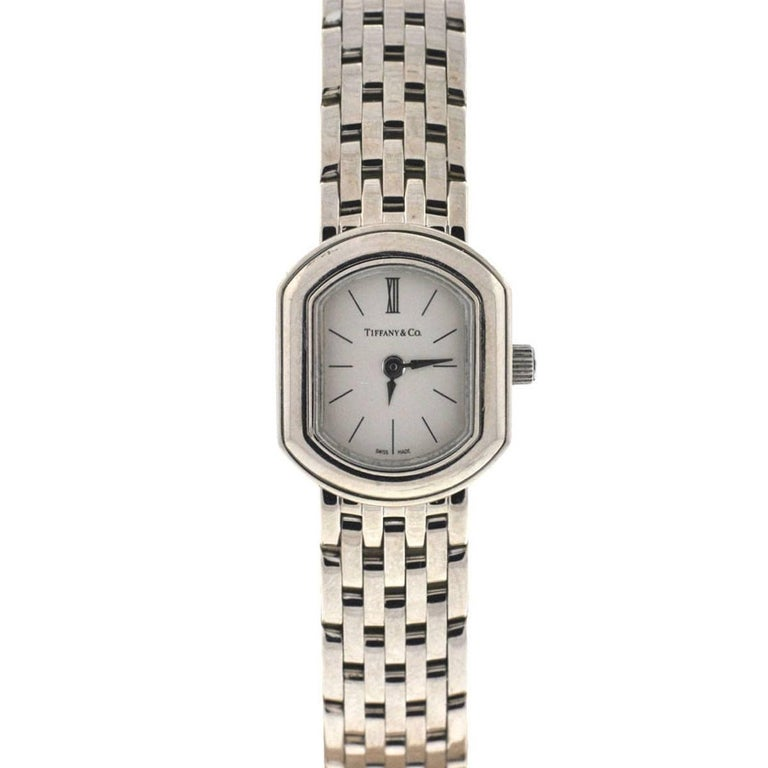 Tiffany & Co. Ladies White Gold 750 Quartz Cocktail Wristwatch