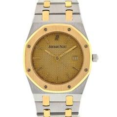 Audemars Piguet Yellow Gold Stainless Steel Royal Oak Quartz Wristwatch