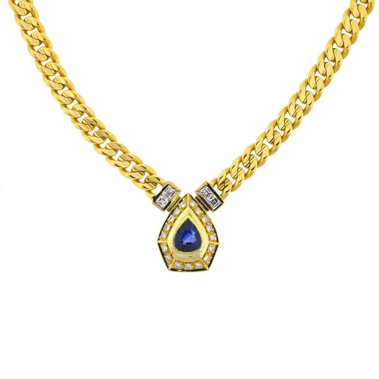 Style - Choker / Pendant Metal - 18k Yellow Gold Weight - 60.0 Grams Chain Length - 15.5
