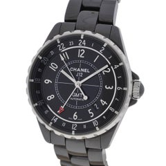 Chanel Black Ceramic J12 GMT Automatic Wristwatch