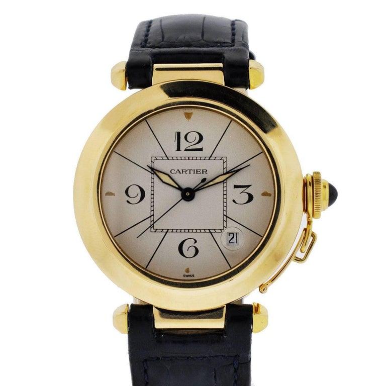Cartier Yellow Gold Pasha Automatic Wristwatch