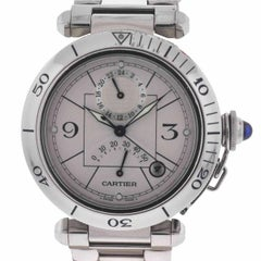 Cartier 2388 Pasha GMT Stainless Steel Automatic Power Reserve Watch