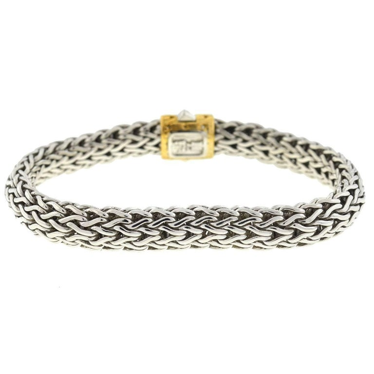 John Hardy Woven Sterling Silver Yellow Gold Men S