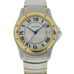 Cartier Two-Tone Santos Ronde 1910 Automatic Watch