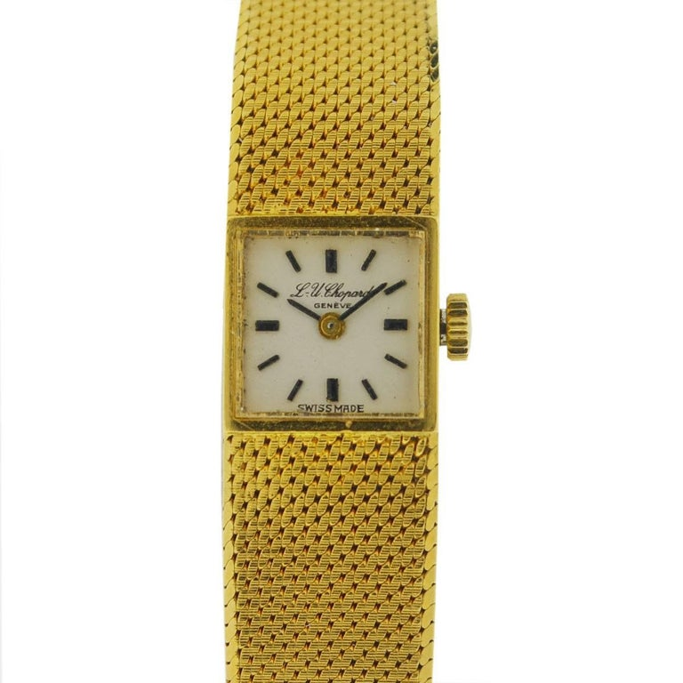 Vintage Chopard 18 Karat Yellow Gold Ladies Watch For Sale ...