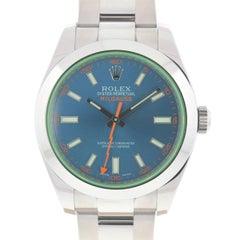 Rolex 116400 Milgauss Blue Stainless Steel Automatic Watch