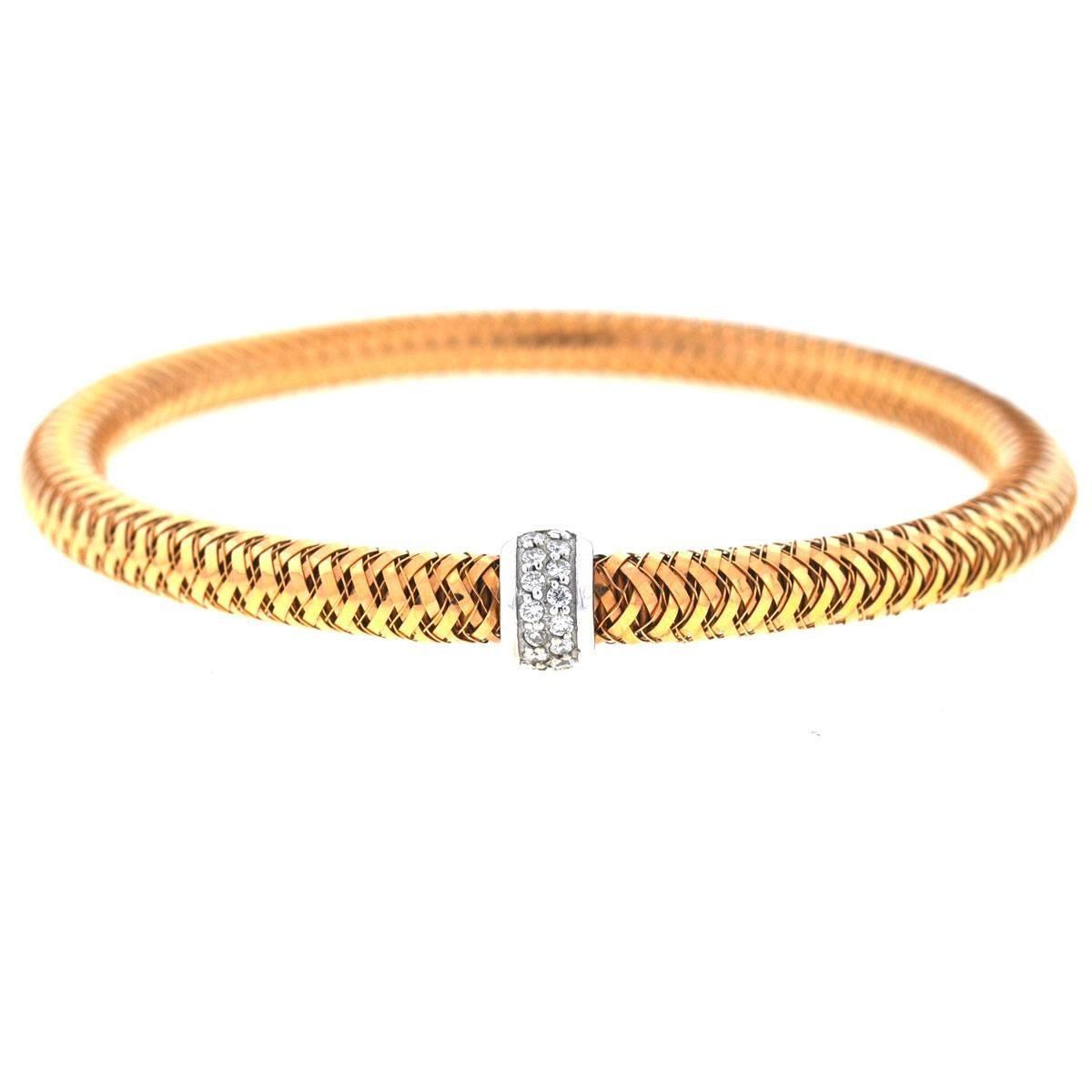 Roberto Coin 18 Karat Rose Gold Primavera Bracelet