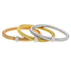 Roberto Coin 18 Karat Gold Primavera Flexible Bracelets