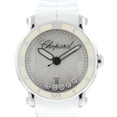 Chopard Floating Diamonds Stainless Steel Rubber Strap Watch