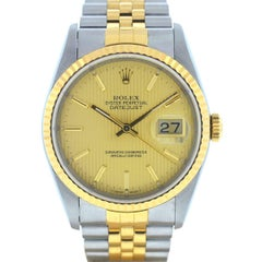 Rolex 16233 Datejust Two-Tone Tapestry Dial Automatic Watch