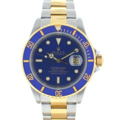 Rolex 16613 Submariner Two-Tone Blue Dial Automatic Watch