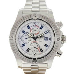 Breitling A13370 Super Avenger Stainless Steel White Dial Chronograph Watch
