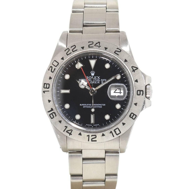 Rolex 16550 Explorer II Stainless Steel Watch