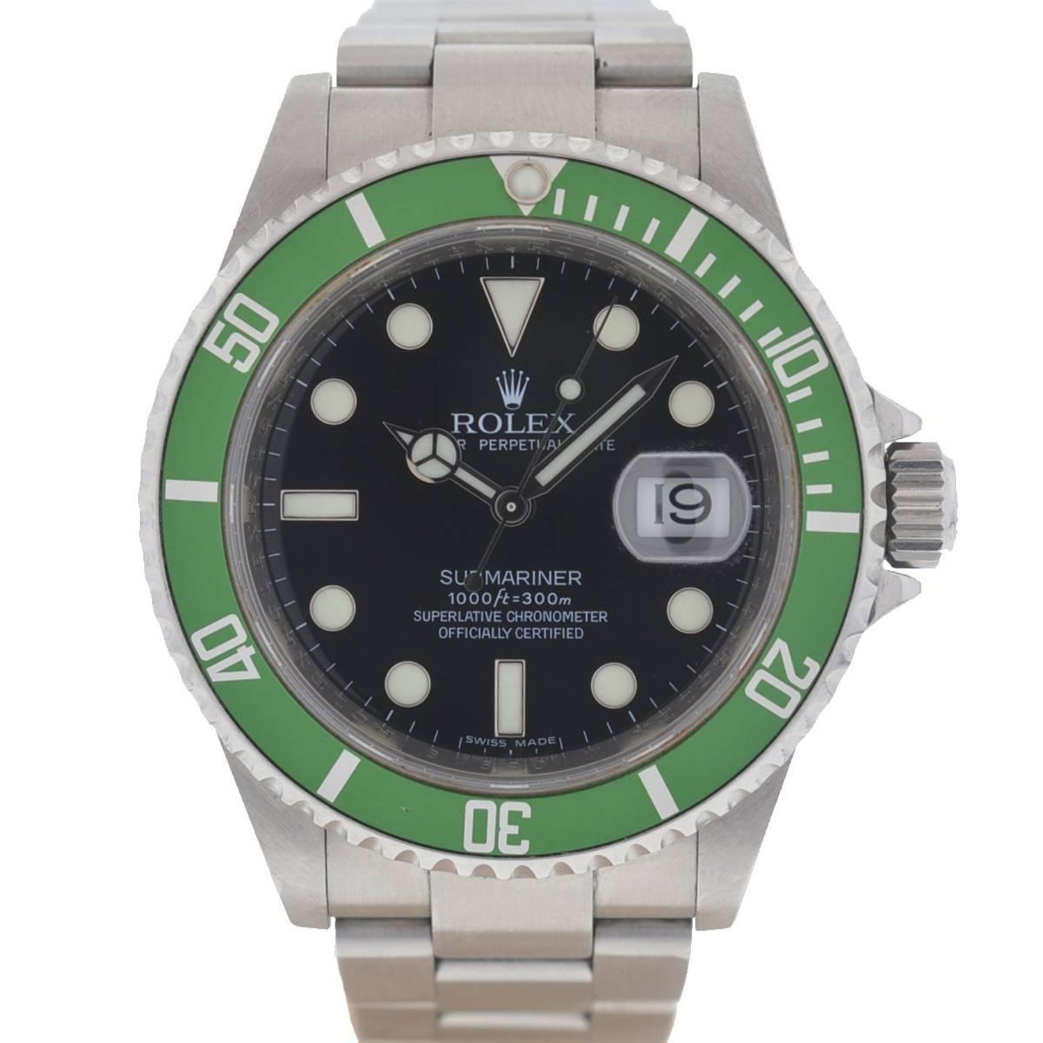 image submariner dial above to watches rolex green hulk zanniversary mariner sub click enlarge