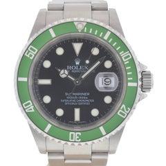Rolex 16610V 50th Anniversary Kermit Green Bezel Submariner Watch