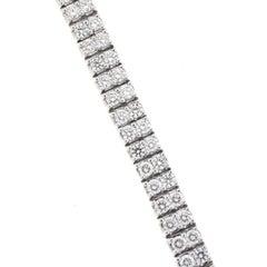 14 Karat White Gold Two-Row Diamond Tennis Bracelet