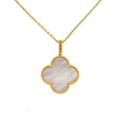 Van Cleef & Arpels 18 Karat Gold Magic Alhambra Motif Long Necklace
